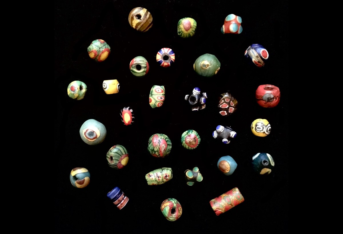 Roman glass beads(SOLD)