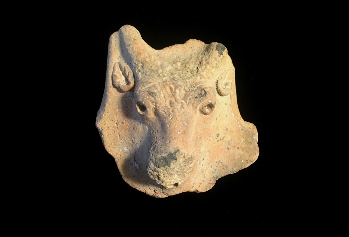 terracotta brazier fragment(SOLD)
