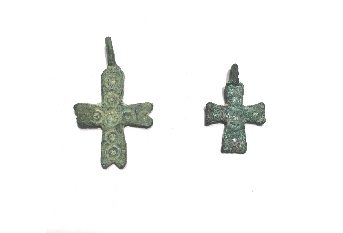 Byzantine bronze crosses