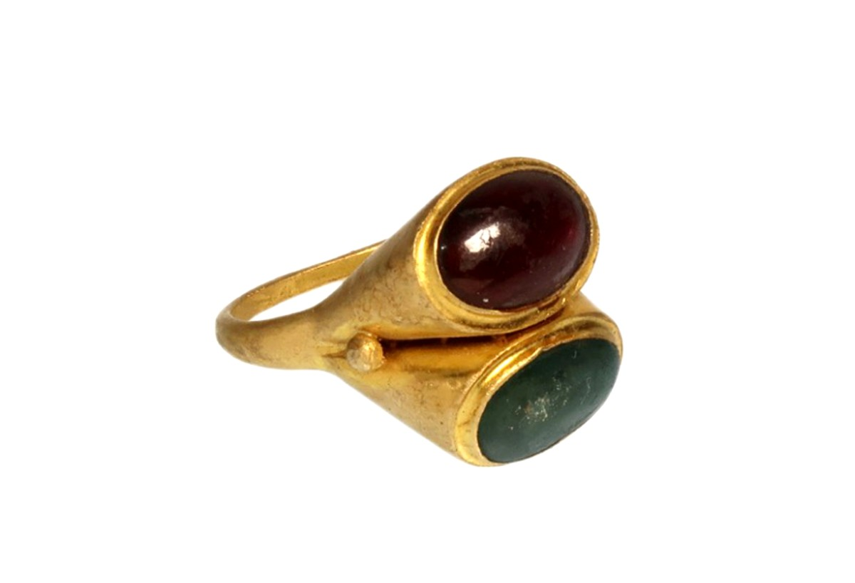 Roman gold double ring(SOLD)