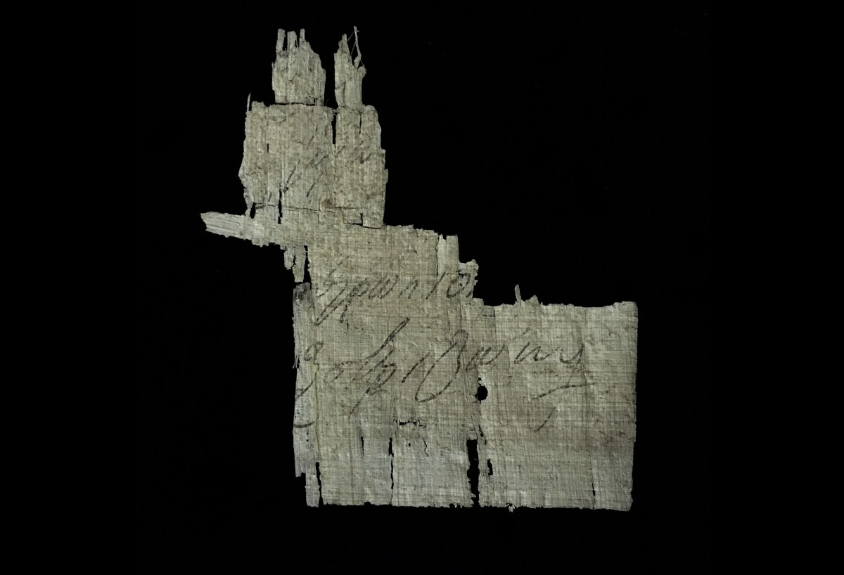 a fragment of Greek papyrus(SOLD)