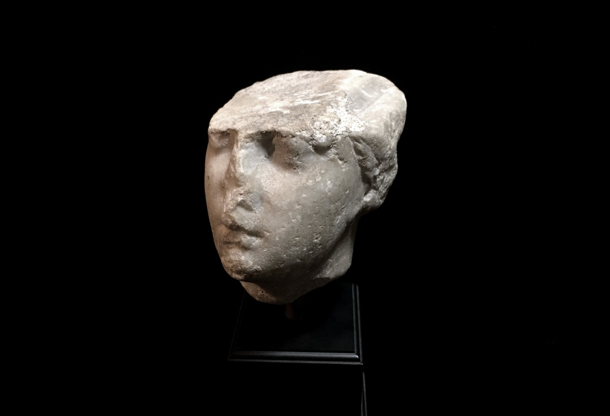 Greco-Roman marble head of a Goddess(SOLD)