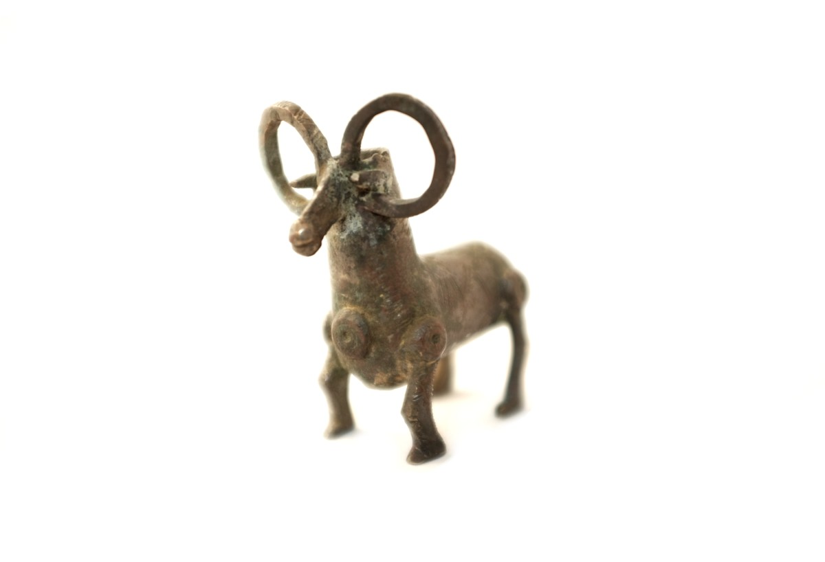 Luristan bronze ram vessel